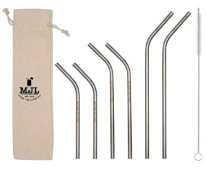 Thin Bent Stainless Steel Straws