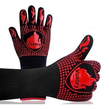 Vsadey BBQ Silicone Gloves